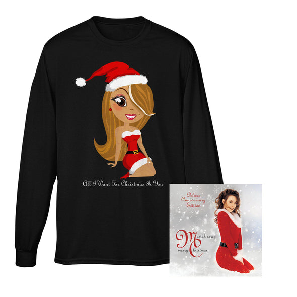 Merry Christmas (Deluxe Anniversary Edition) Album & Long Sleeve Tee