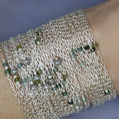 WRITTEN IN THE SKY; CHAIN CUFF BRACELET