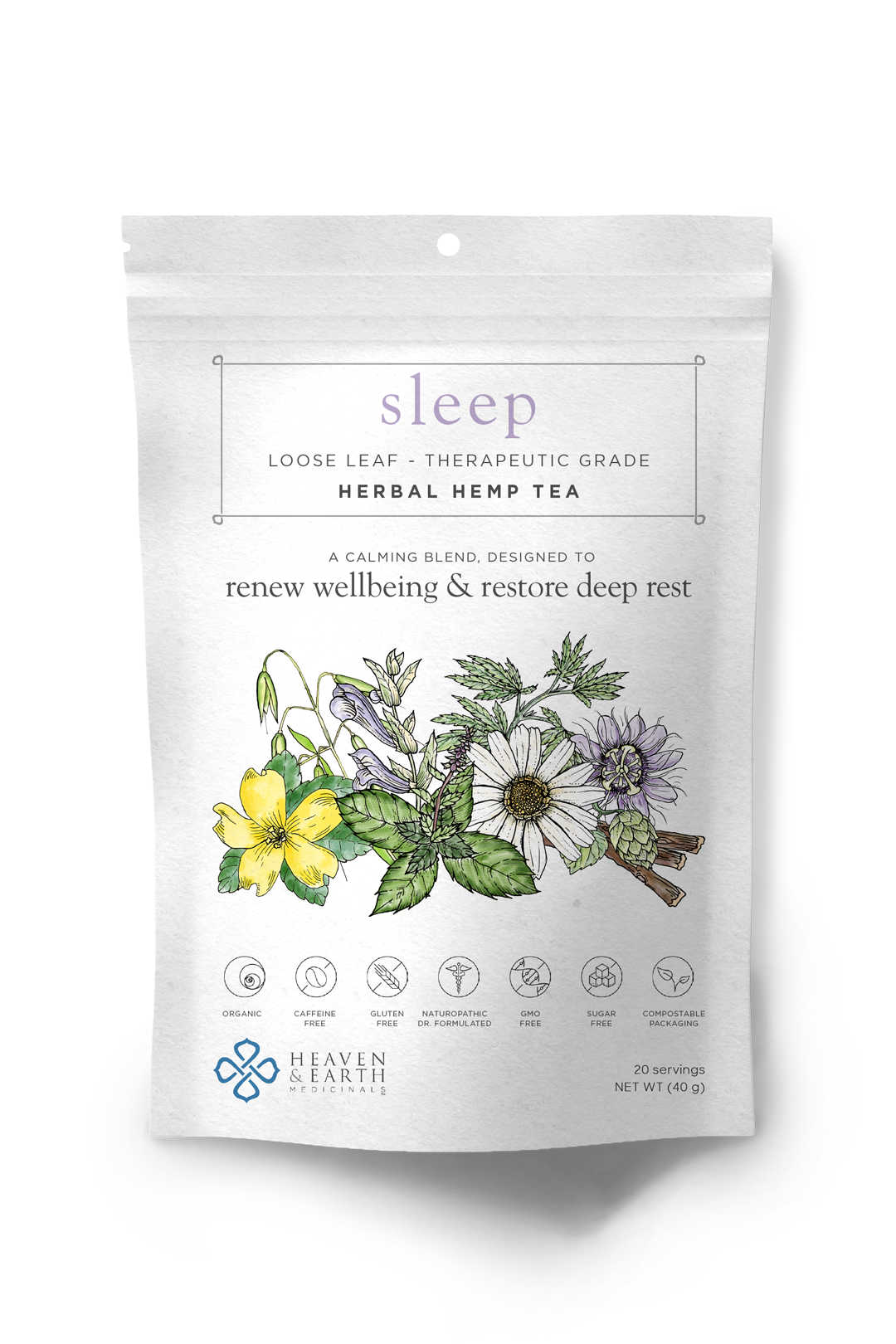sleep hemp tea