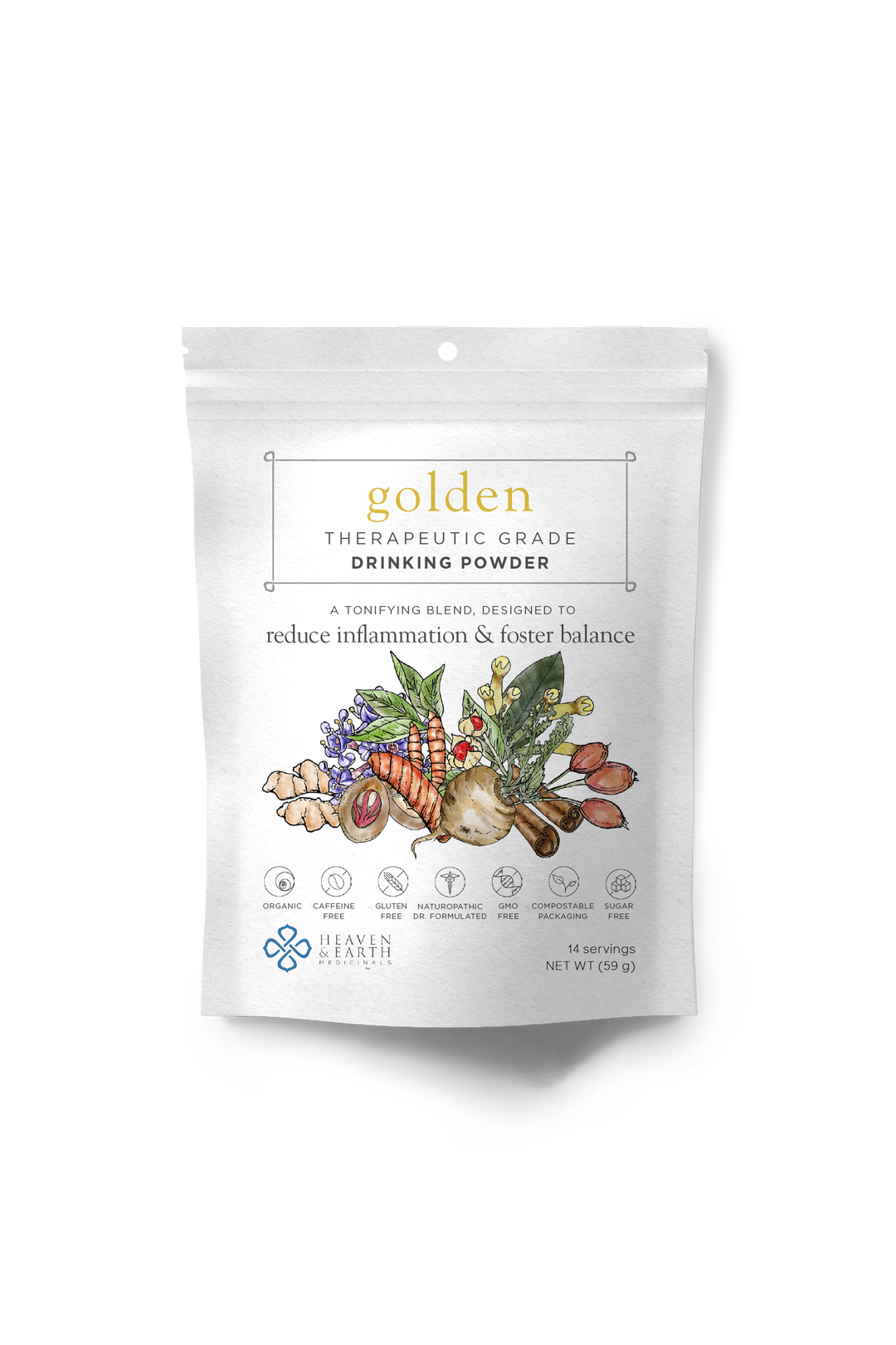 golden drinking powder