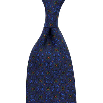 【ネクタイ】Ancient Madder Silk Tie - Navy XII - Hand-Rolled