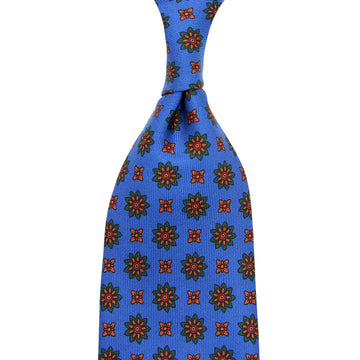 【ネクタイ】Ancient Madder Silk Tie - Madder Blue IV - Hand-Rolled