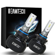 BEAMTECH 9006 LED Bulb 50W 6500K 8000Lumens Extremely Brigh HB4 CSP Chips Conversion Kit