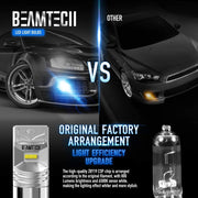 BEAMTECH 1157 LED Bulb CSP Chips 6500K 800 Lumens 30W P21/5W 7528 BAY15d Xenon White Extremely Super Bright Brake Light(of 2)