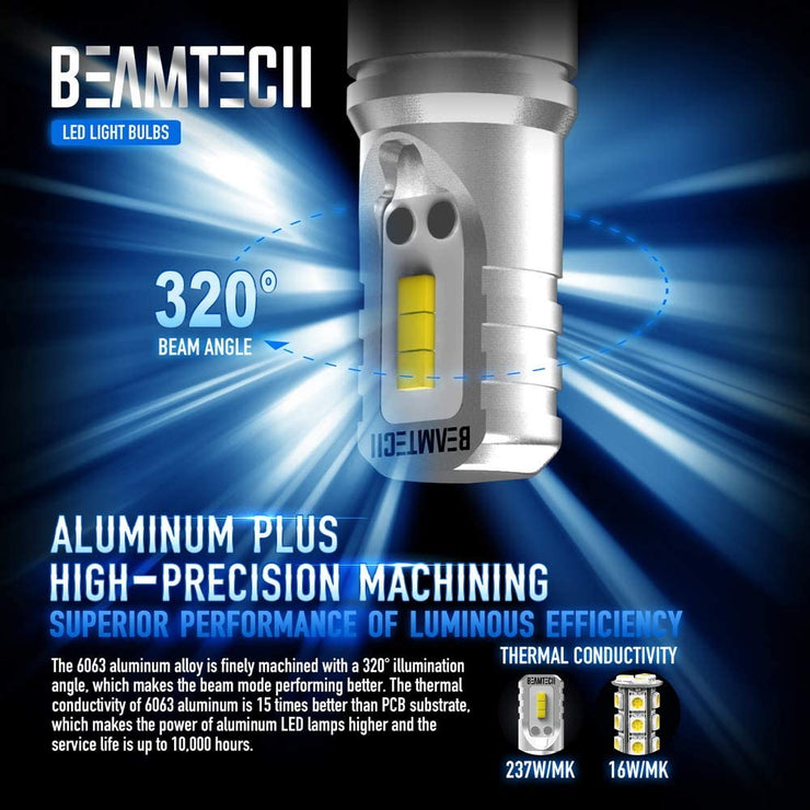 BEAMTECH H11 Led Fog Light Bulb CSP Chips 6500K 800 Lumens Xenon White Extremely Super Bright
