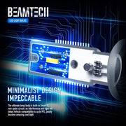 BEAMTECH H10 Led Fog Light Bulb 9145 9040 9140 CSP Chips 6500K 800 Lumens Xenon White Extremely Super Bright