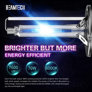 BEAMTECH D3S HID Bulbs,Xenon Headlight Replacement Bulb 35W 8000K Pack of 2