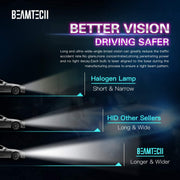 BEAMTECH D2S HID Bulbs, Xenon Headlight Replacement Bulb 35W 8000K Pack of 2