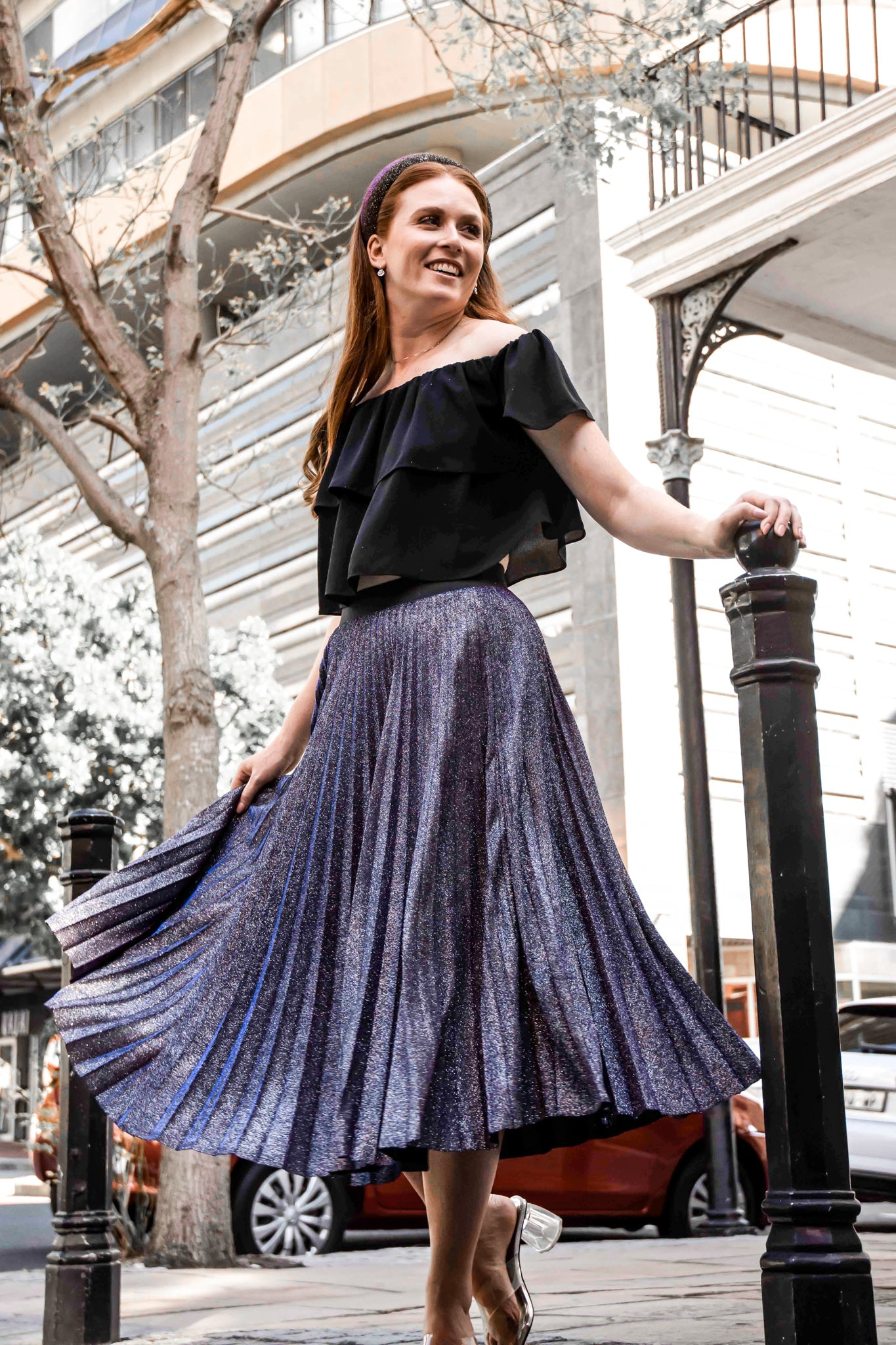 Multi Dimensional Chameleon Skirt