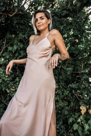 The Dusty Pink Slip Dress