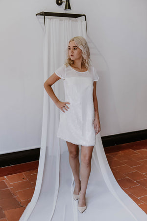 Janita Toerien White Cocktail Dress