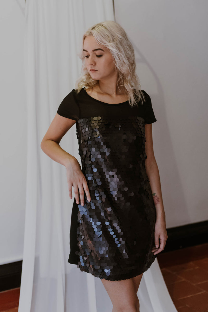 ITEM #06. The T-Shirt Sequin Cocktail Dress