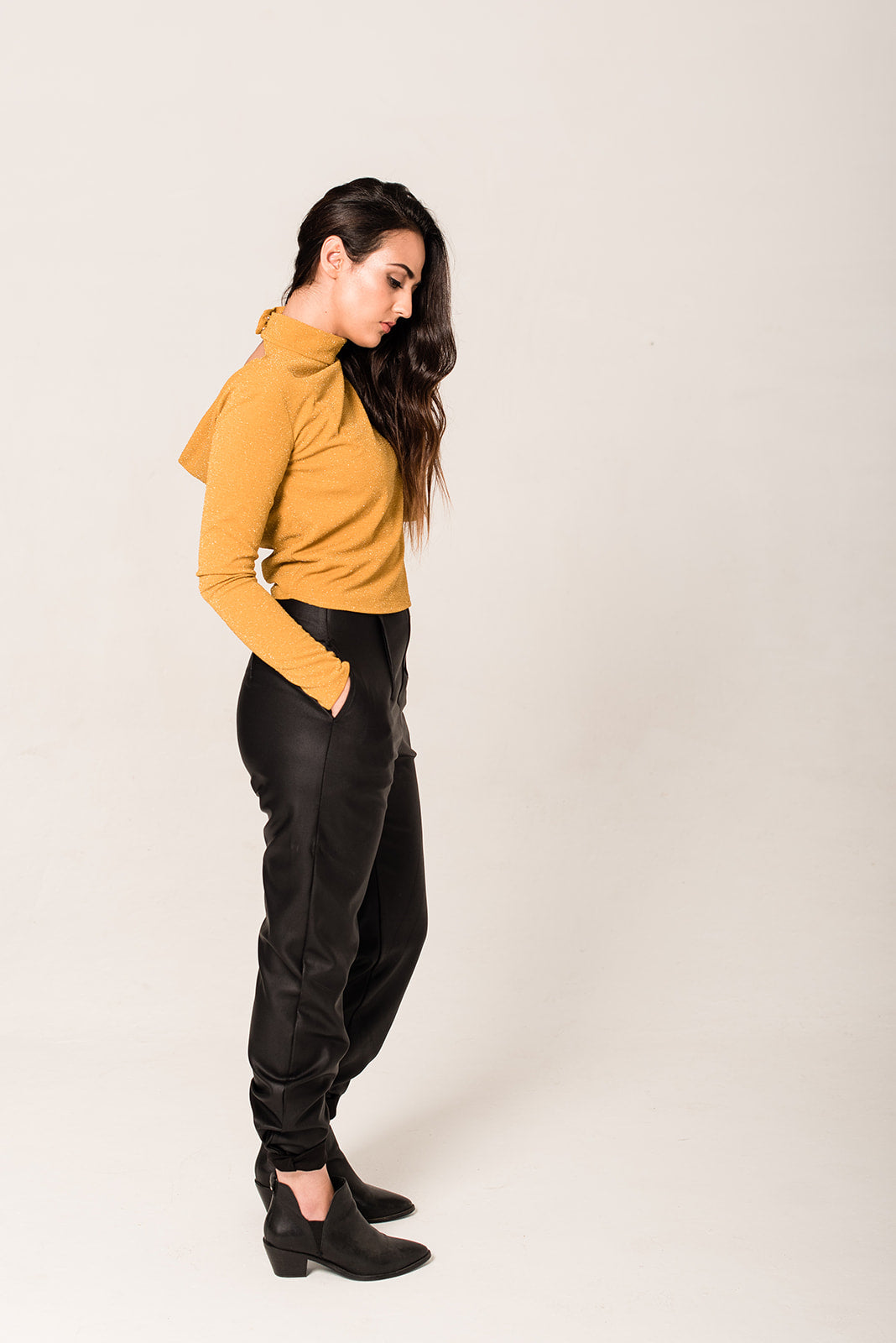 ITEM #17. The Mustard Cowl Back Top