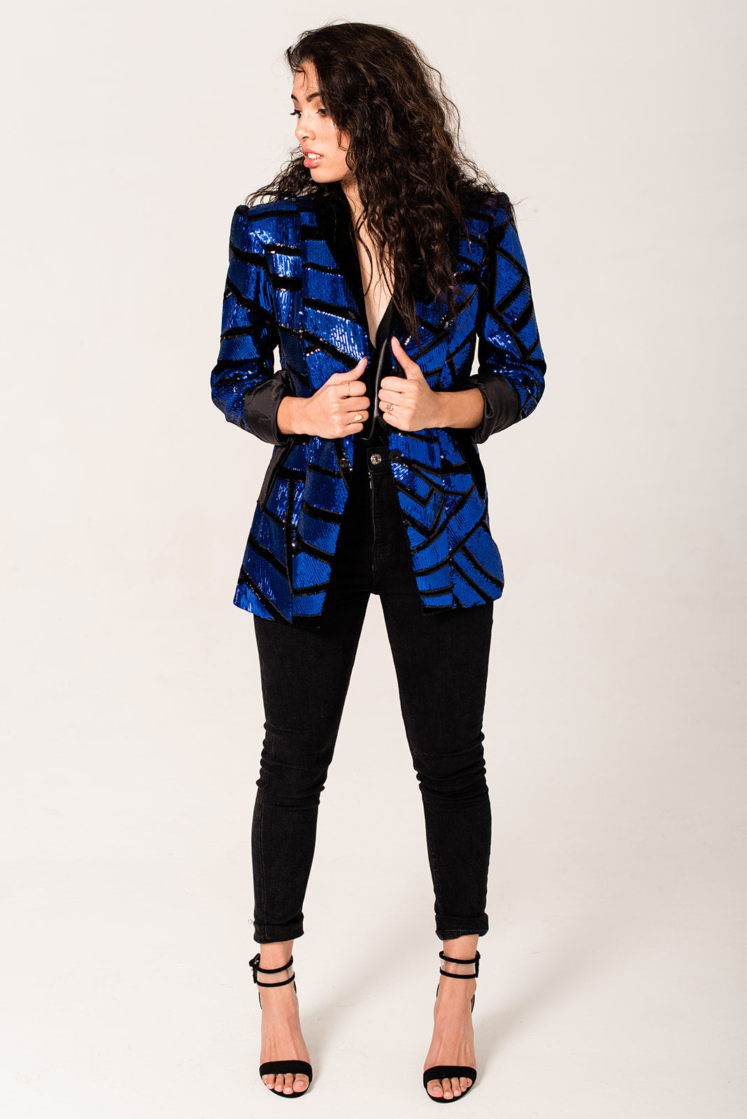 The Electric Sequin Tailored Blazer