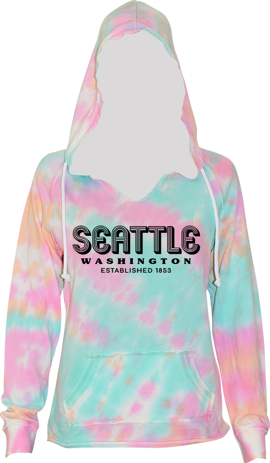 Junior Ladies Retro Hoodie - Cotton Candy