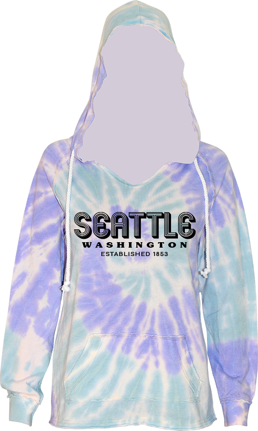 Junior Ladies Retro Hoodie - Mint Purple