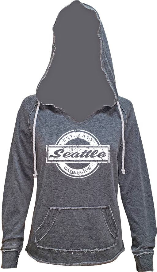 Junior Ladies Circle Block Hoodie - Charcoal