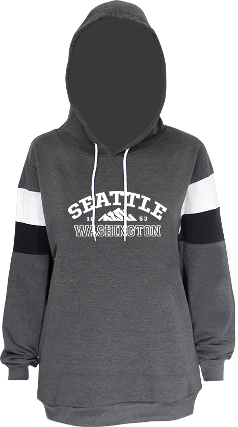 Junior Ladies Washington Mountain Hoodie - Charcoal