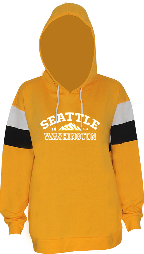 Junior Ladies Washington Mountain Hoodie - Yellow