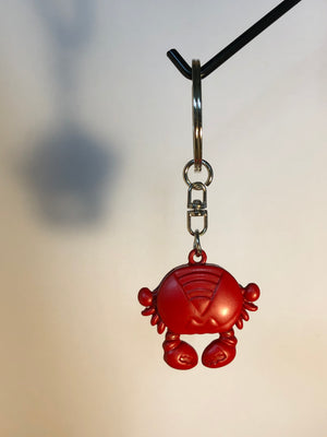 Seattle Washington Red Sea Crab Keychain Metal