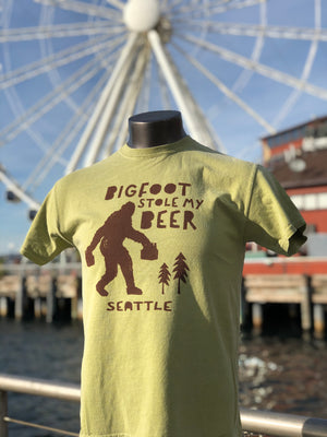 Stolen Bigfoot Beer T-Shirt - Green