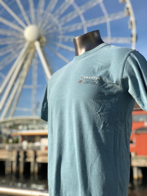 Seattle Map T-Shirt - Ice Blue
