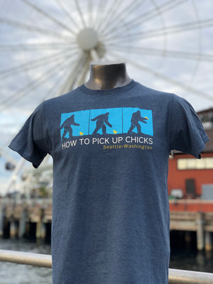 Sasquatch Pick Up Chicks T-Shirt