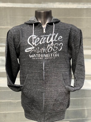 Zealous Seattle Zip Up Hoodie - Charcoal