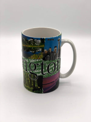 Washington Tall Etched Mug