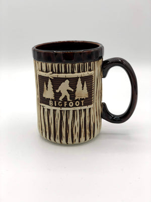 Bigfoot Wood Texture Mug