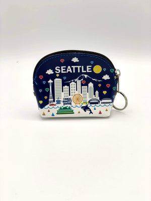 Seattle Washington Midnight Elephant Coin Purse