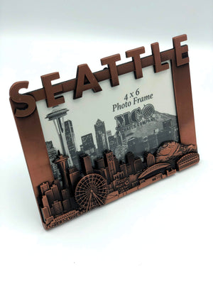 Seattle Washington Skyline Copper Picture Frame