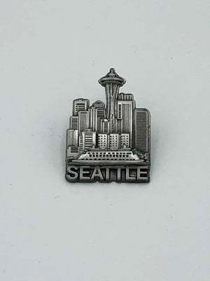 Seattle Skyline Pewter Lapel Pin