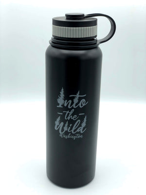 Wild Script Washington Water Bottle