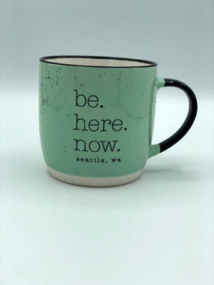 Be Here Now Mint Mug