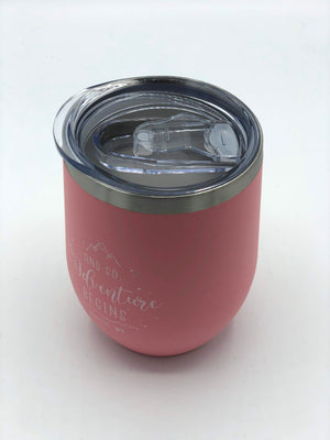 Adventure Begins Pink Wine Thermos