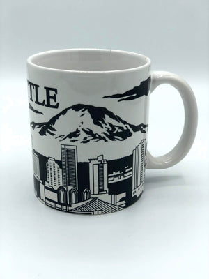 Seattle Black Skyline Mug