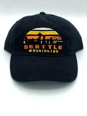 Skyline Sunset Black Hat