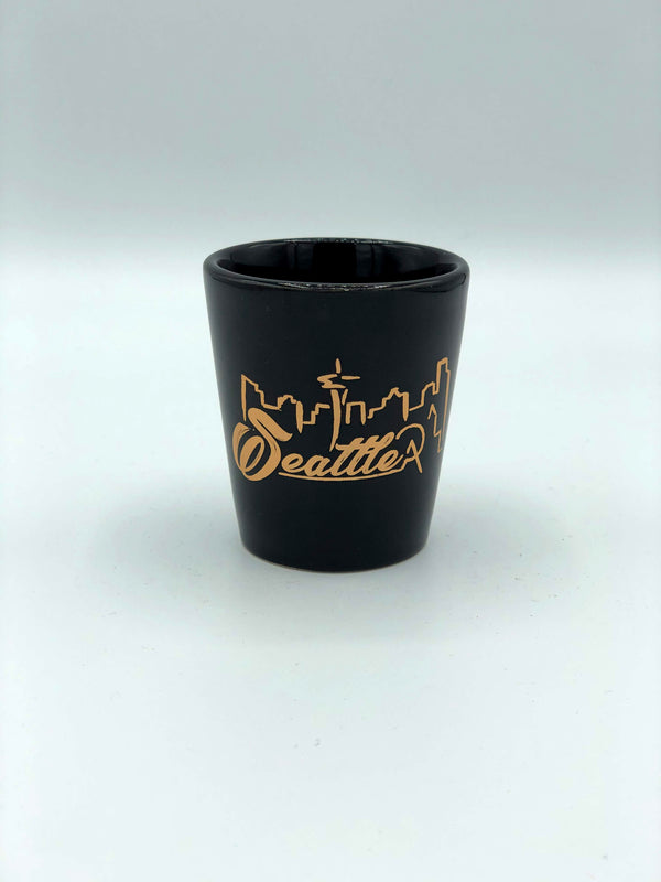 Gold Skyline Shot Glass