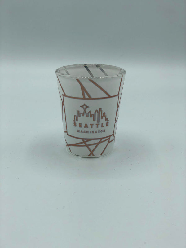 Clouded Skyline Shot Glass