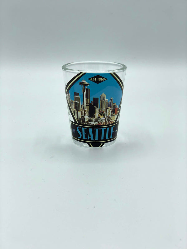 Seattle Deco Shot Glass