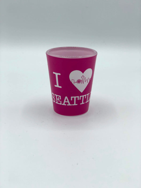 I Heart Seattle Pink Shot Glass