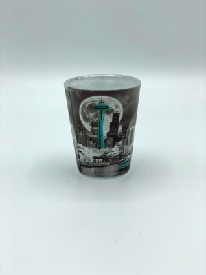Seattle Moon Skyline Shot Glass