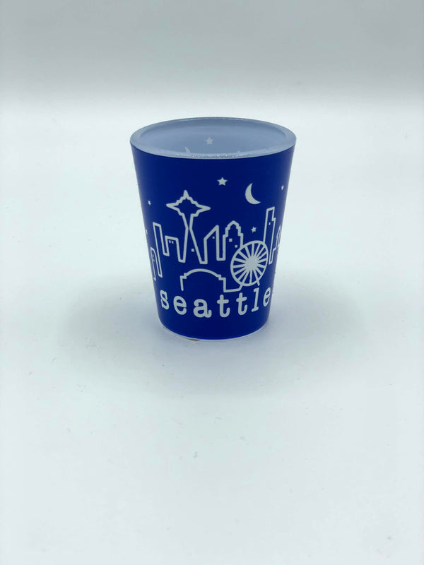 Blue Frasier Shot Glass