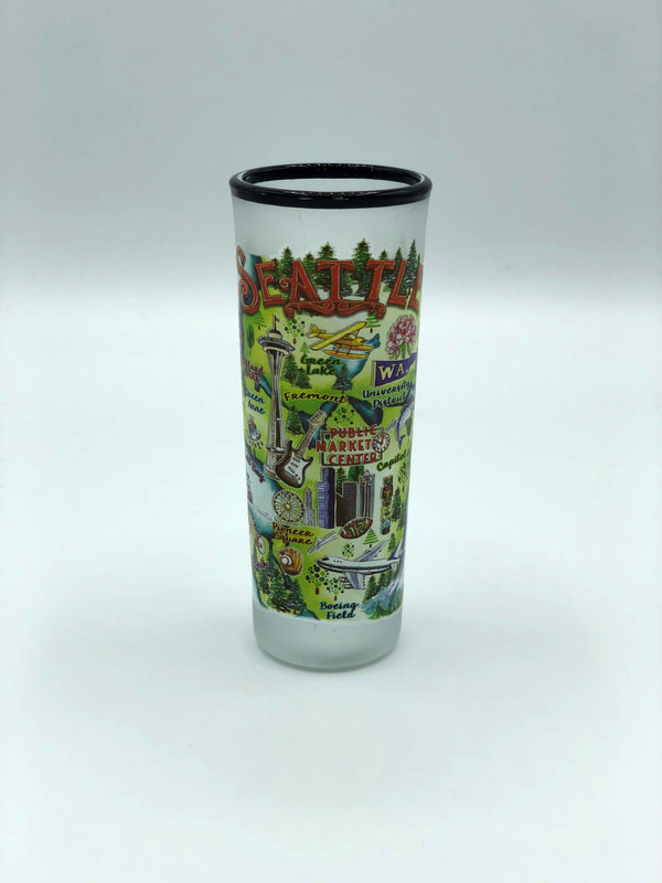 Seattle Map Shooter Shot Glass