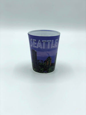 Purple Photo Skyline Shot Glass