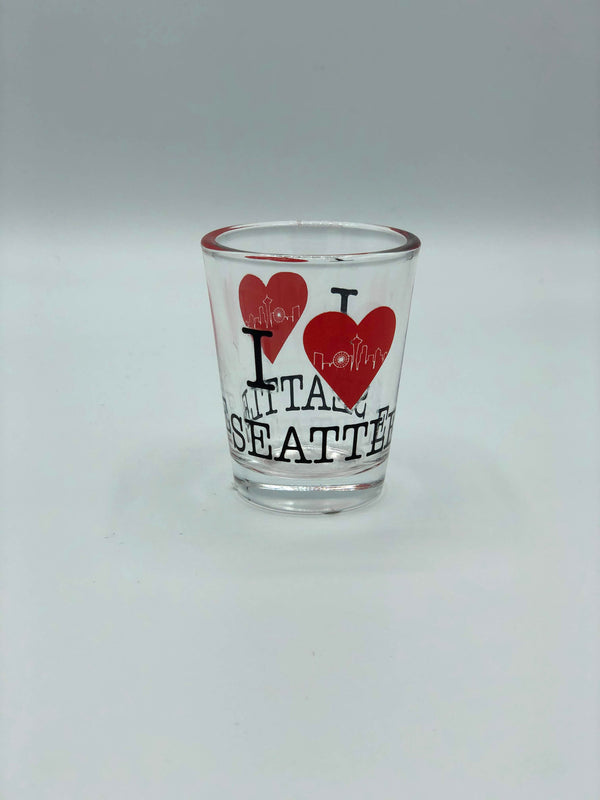 Clear I Love Seattle Shot Glass