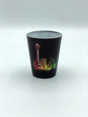 Neon Skyline Shot Glass