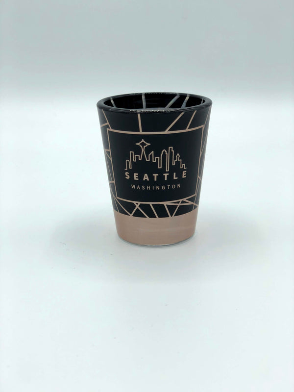 Black Skyline Shot Glass