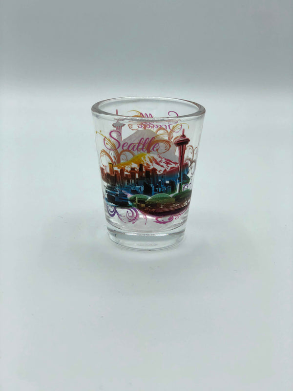 Multicolor Skyline Shot Glass
